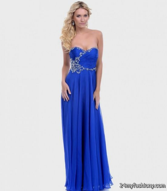 strapless cobalt blue bridesmaid dresses 2016-2017 | B2B ...