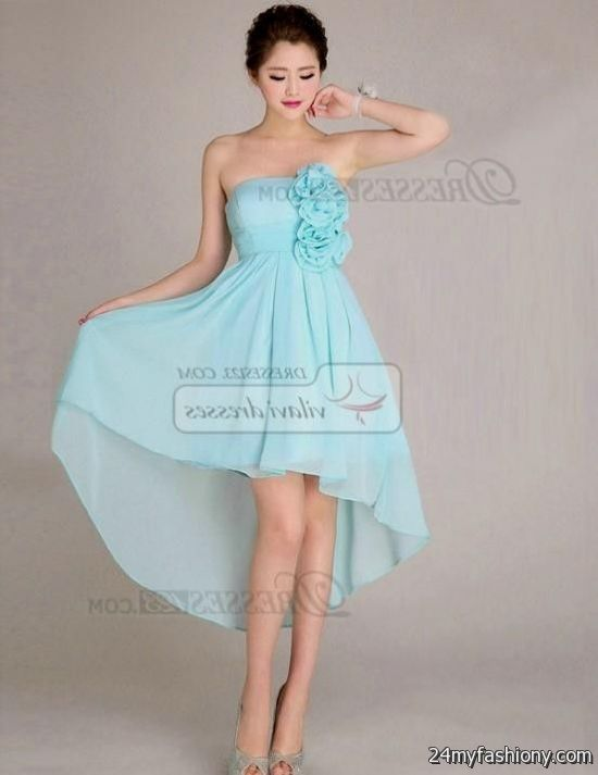 strapless light blue sundress 2016-2017 | B2B Fashion