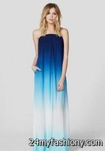 strapless ombre maxi dress 2016-2017   B2B Fashion