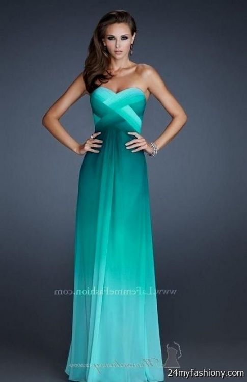 Strapless Ombre Maxi Dress - Missy Dress