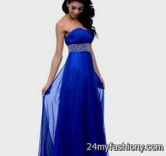 Royal Blue Strapless Prom Dress - Ocodea.com