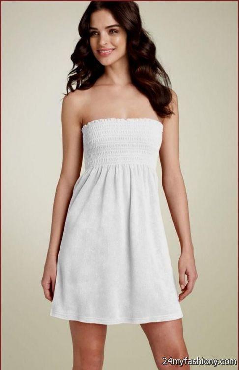 strapless white summer dress 20162017 b2b fashion
