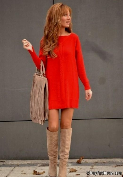 sweater dress outfits tumblr 2016-2017 | B2B Fashion