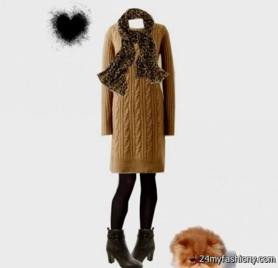 Sweater Dress With Ankle Boots - Missy Dress