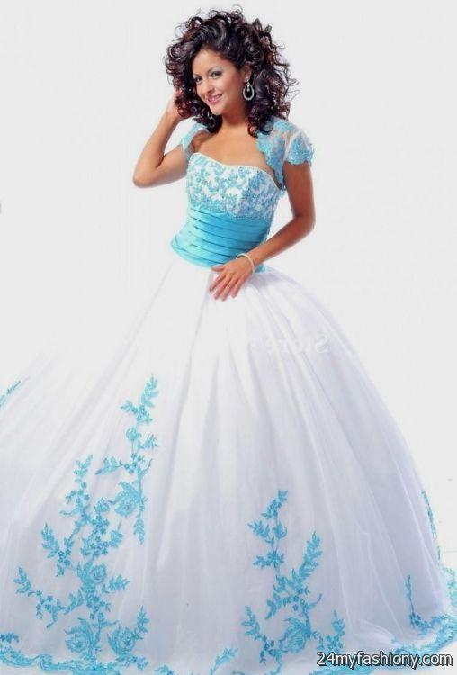sweet 15 dresses blue and white 2016-2017 » B2B Fashion