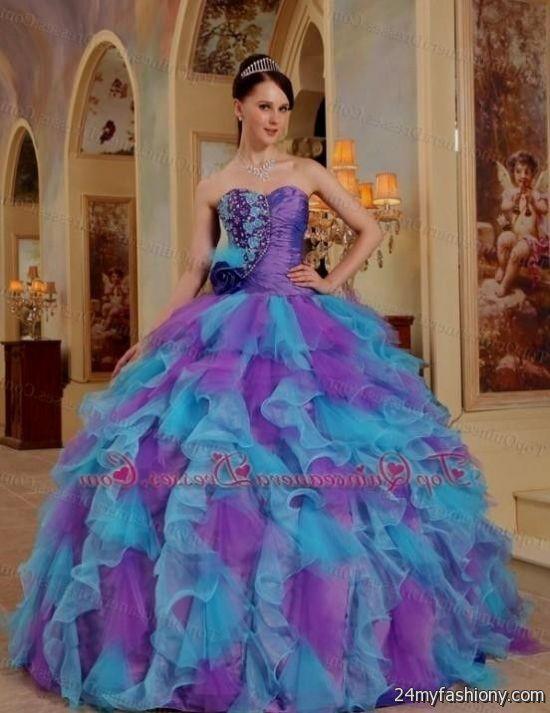 sweet 15 dresses purple and blue 2016-2017 | B2B Fashion