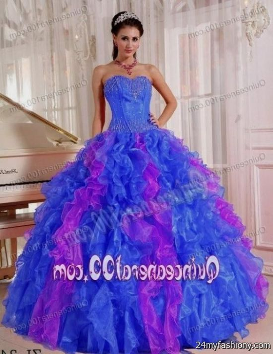 Sweet 15 Dresses Purple And Blue - Missy Dress