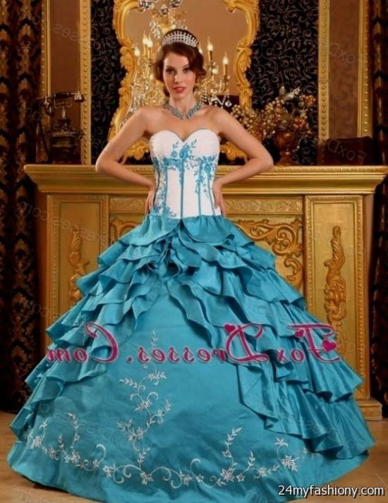 92a36f9eaa7 You can share these sweet 15 dresses turquoise on Facebook