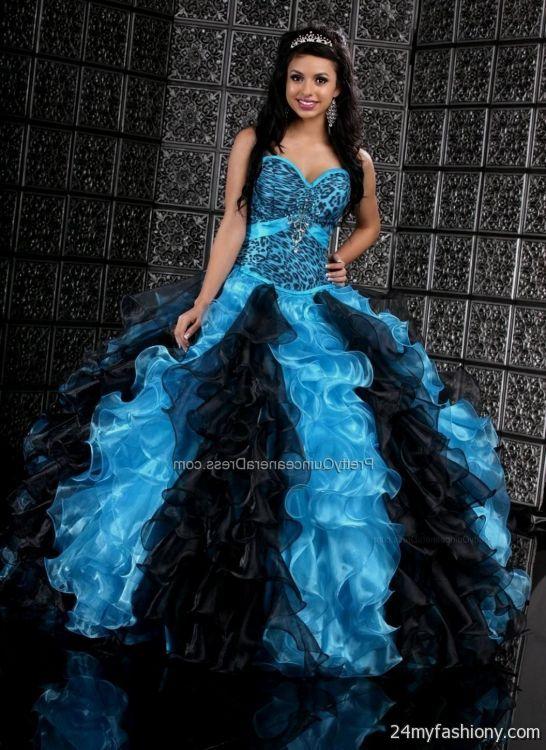 b841ea02c06 sweet 15 dresses turquoise and black looks