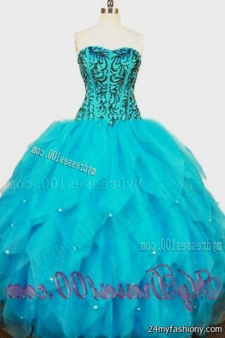 59d98fe1202 You can share these sweet 15 dresses turquoise and black on Facebook