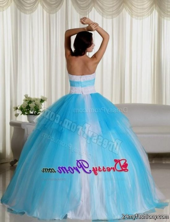 382d0d1f25b You can share these sweet 15 dresses white and blue on Facebook