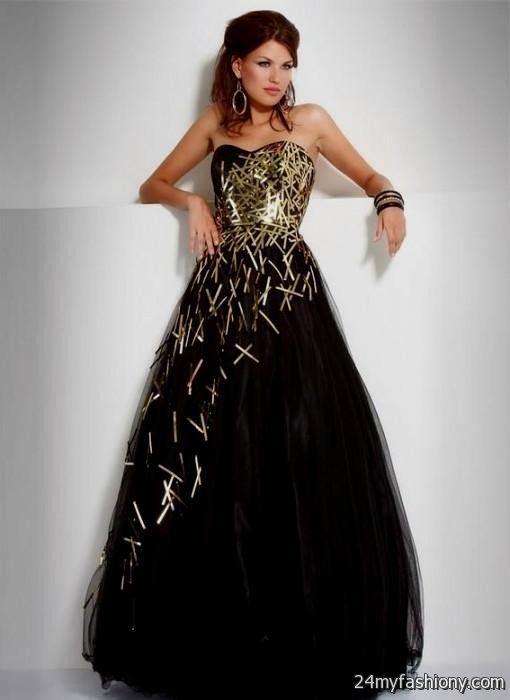 Black And White Sweet 16 Dresses