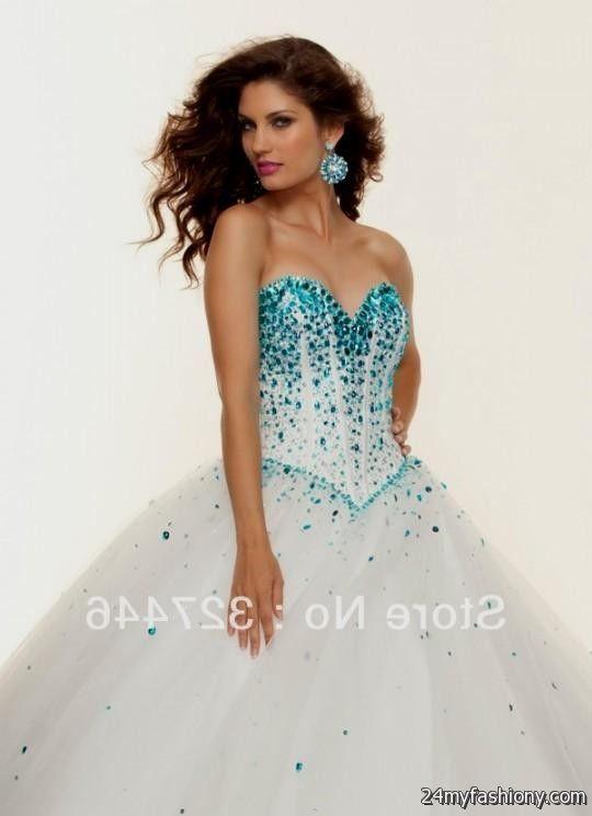 sweet 16 dresses blue and white 2016-2017 | B2B Fashion