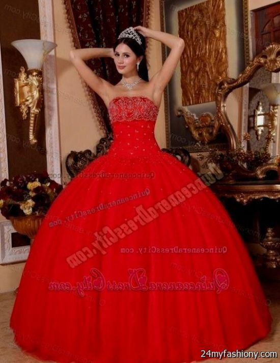 Sweet 16 Dresses Dark Red Looks