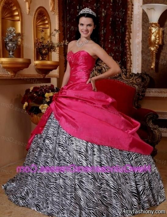 Pink and black sweet 16 dresses