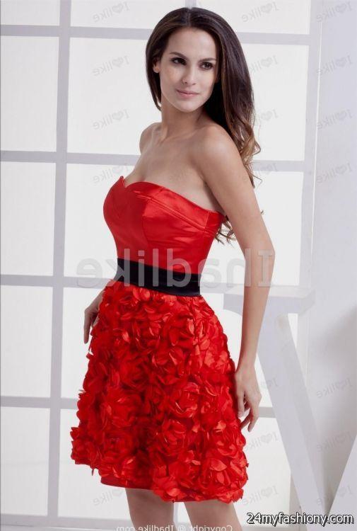 sweet 16 dresses red and black short 20162017 b2b fashion