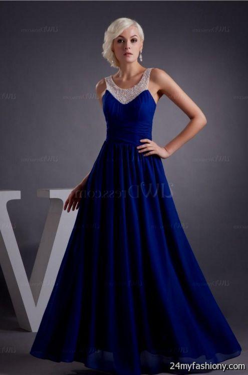 Sweet 16 Dresses Royal Blue Long 2016 2017 B2b Fashion