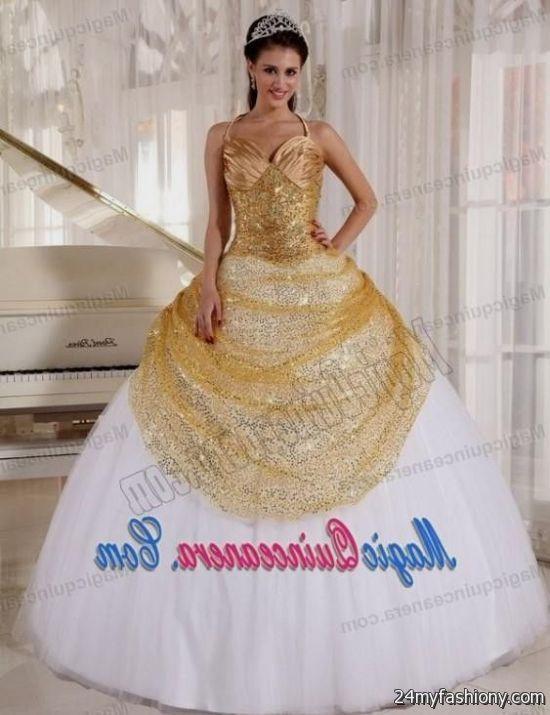 sweet 16 dresses white and gold 2016-2017 » B2B Fashion