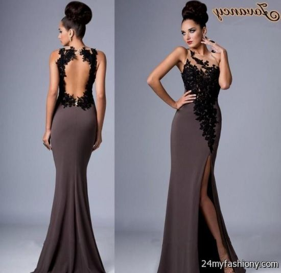 855f2b9dbec You can share these tan and black prom dresses on Facebook