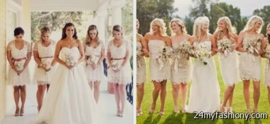 tan lace bridesmaid dress 2016-2017 » B2B Fashion