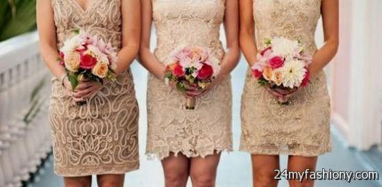 tan lace bridesmaid dress 2016-2017 » B2B Fashion