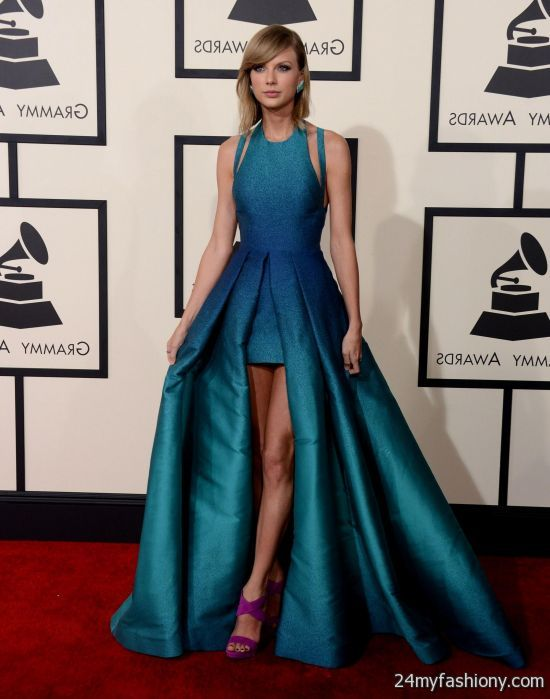 Taylor Swift Blue Dress Grammys 2016 2017 B2B Fashion