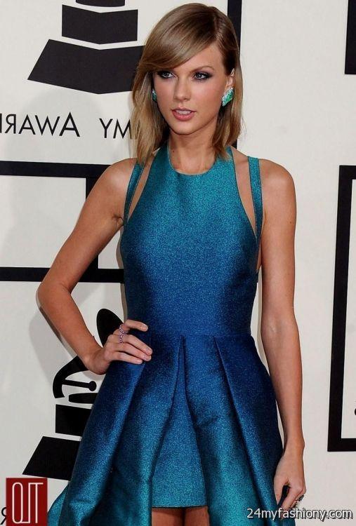 Taylor Swift Blue Dress Grammys Looks B2b Fashion