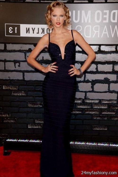 Taylor Swift Navy Blue Dress Looks B2b Fashion