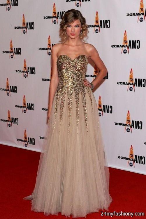 taylor swift red carpet dresses 2016-2017