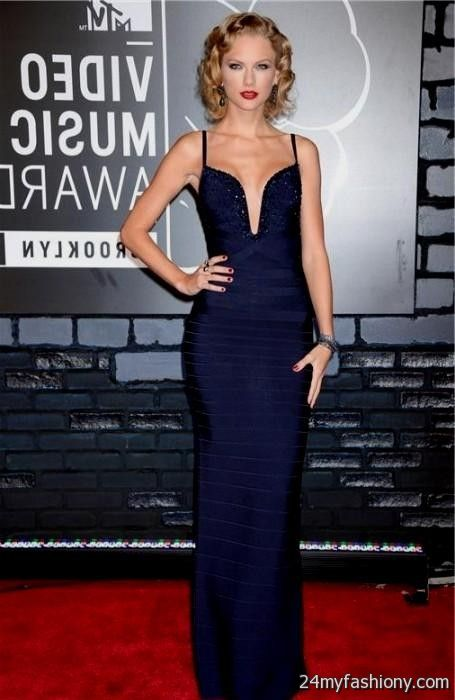 Red carpet dresses 2018 blue