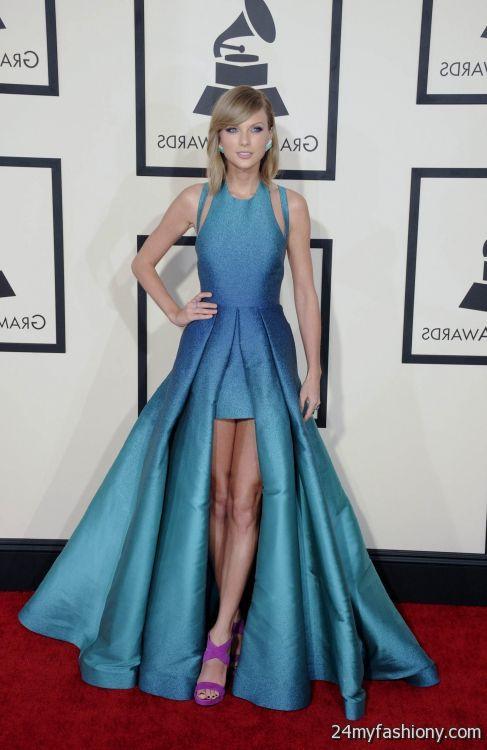 taylor swift red carpet dresses blue 2016-2017 | B2B Fashion