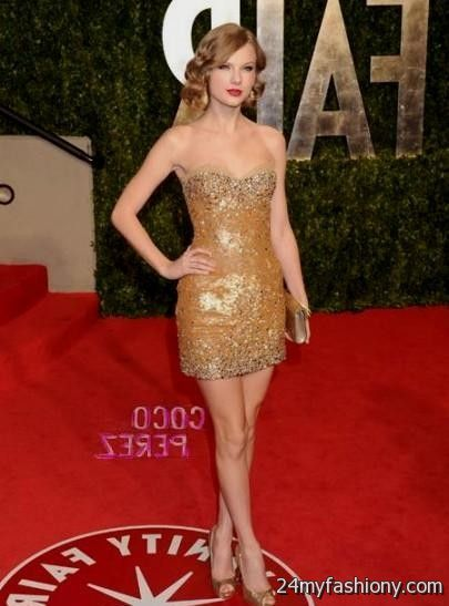 Big M Ford >> taylor swift sparkly gold dress looks | B2B Fashion