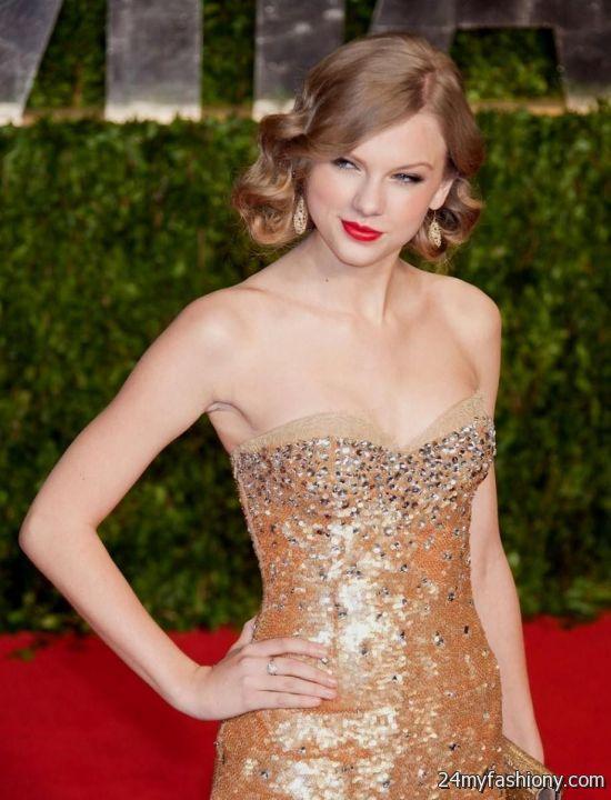 taylor swift sparkly gold dress 2016-2017   B2B Fashion