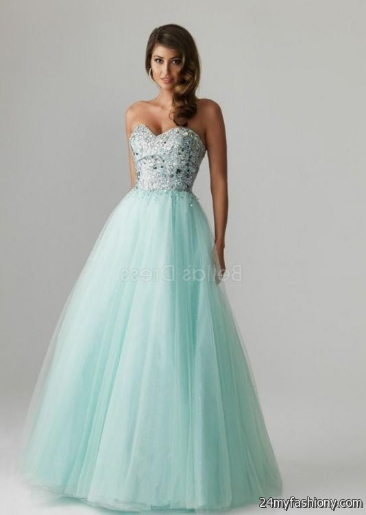 teal ball gown prom dresses 2016-2017 | B2B Fashion
