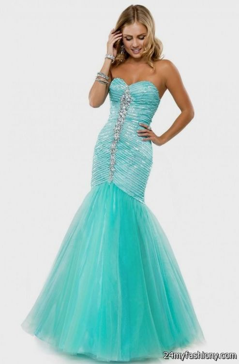 f2cb6c2f7c3 You can share these teal mermaid prom dress on Facebook