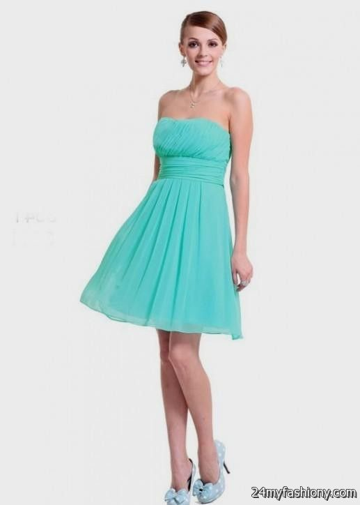 Tiffany blue beach bridesmaid dresses 2016 2017 b2b fashion for Blue beach wedding dresses
