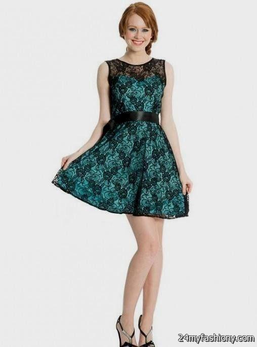 turquoise and black lace dress 2016-2017 » B2B Fashion