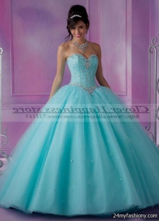 turquoise and pink sweet 16 dresses 20162017 b2b fashion