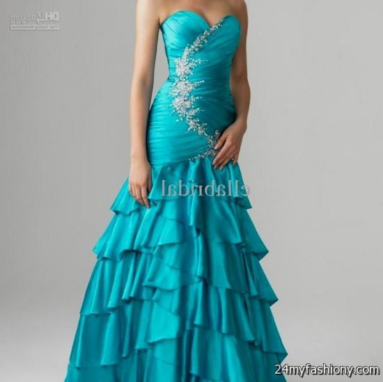 Turquoise And Purple Wedding Dress Looks