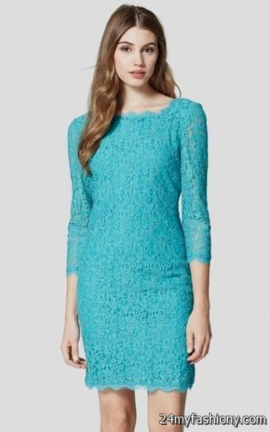 turquoise lace dress with sleeves 2016-2017 » B2B Fashion