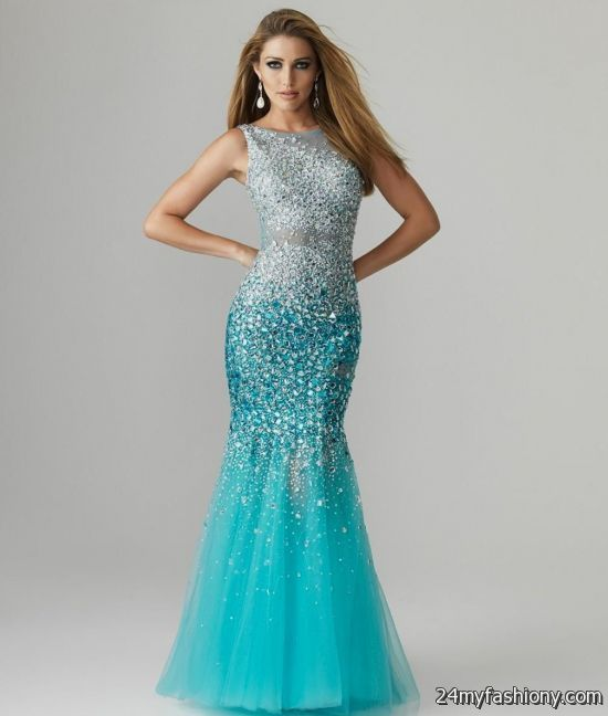 Turquoise Mermaid Prom Dress 2017 2018 B2b Fashion