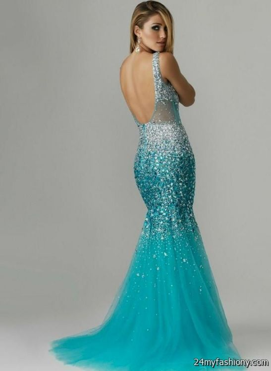 Turquoise mermaid prom dress 2017-2018 | B2B Fashion