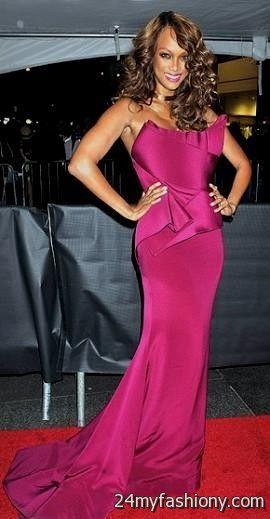 Tyra Banks Plunging Vneck White Mermaid Prom Dress