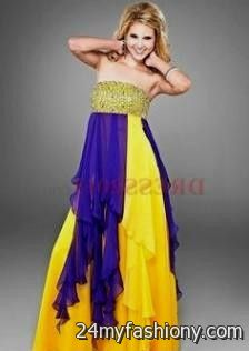 ugly neon yellow prom dress looks b2b fashion