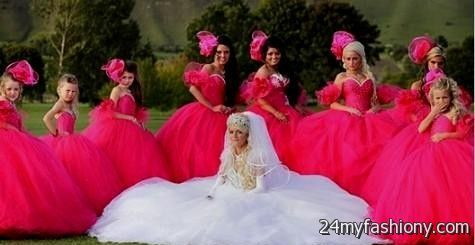 c0a4823db1a ugly pink bridesmaid dress looks