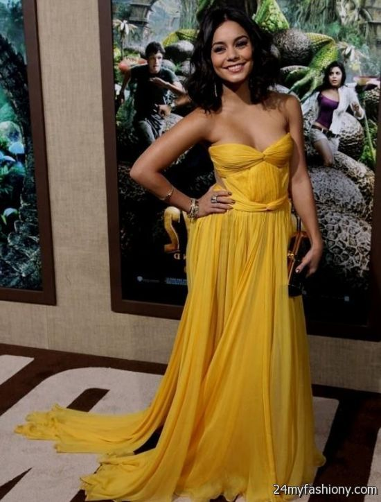 vanessa hudgens yellow dress 2016-2017 | B2B Fashion