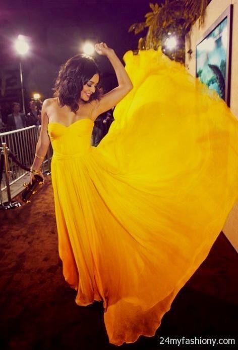 vanessa hudgens yellow dress tumblr 2016-2017 | B2B Fashion