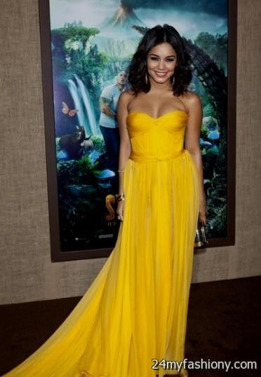 vanessa hudgens yellow dress tumblr 2016-2017 | B2B Fashion