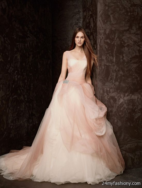 Vera wang peach wedding dress 2016 2017 b2b fashion for Peach dresses for wedding