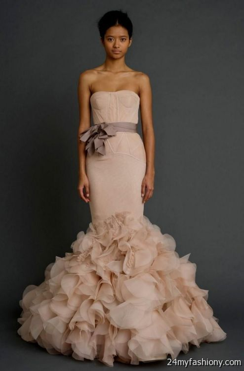 Vera wang pink wedding dress 2016 2017 b2b fashion for Best vera wang wedding dresses